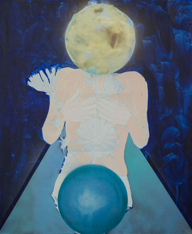 Mira Gaberova Painting Moon Woman - Mira Gaberova Painting Moon Woman - 5 Pieces Gallery - Contemporary Art & Photography