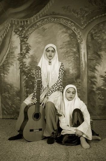 Shadi Ghadirian Photography #14 (Qajar series) - Shadi Ghadirian Photography #14 (Qajar series) - 5 Pieces Gallery - Contemporary Art & Photography