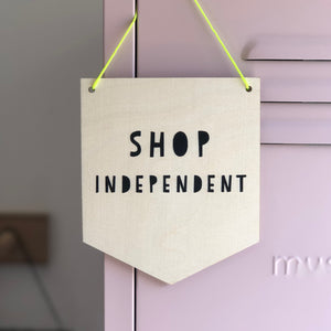 Shop Independent Wooden Wall Sign