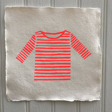 Neon Orange Striped Breton Shirt