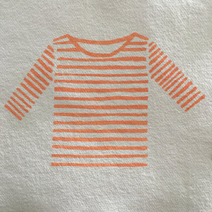 Screen Print Breton Stripe Shirt Art Print