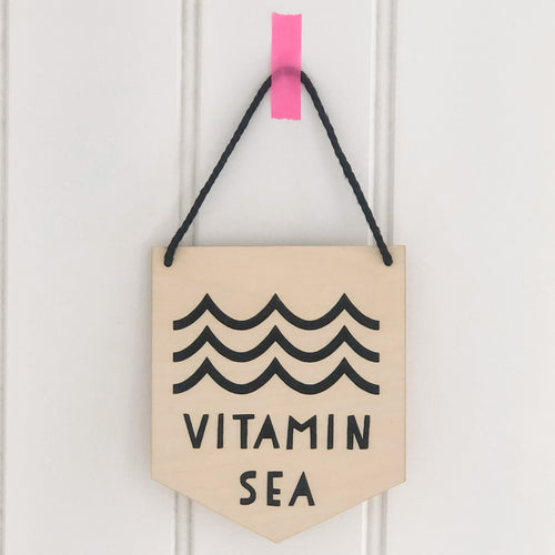 Vitamin Sea Wooden Wall Plaque