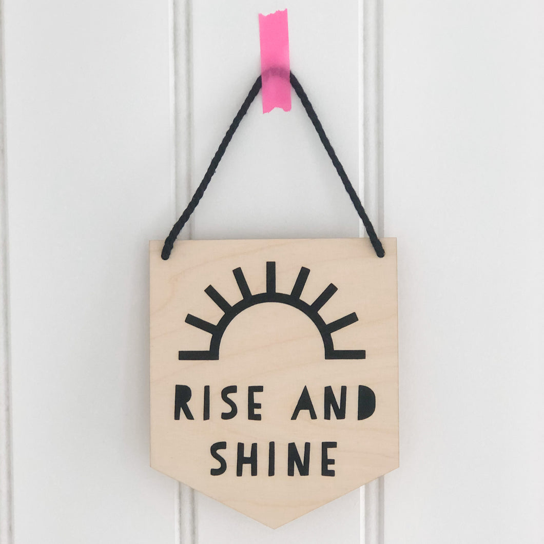 Rise and Shine Wooden Wall Plaque