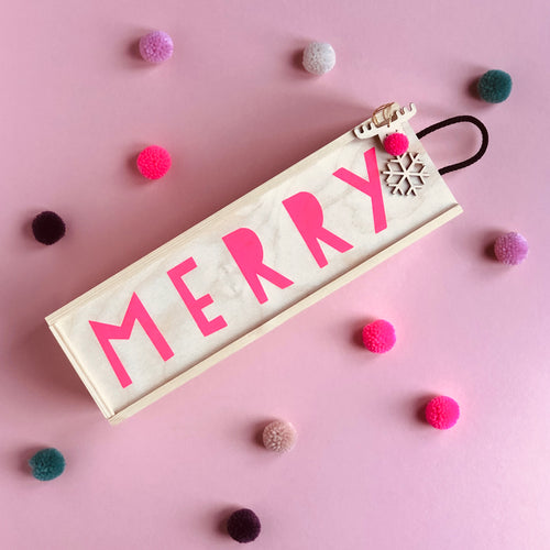 MERRY Christmas Wine Box in Collaboration with Frankly Decor