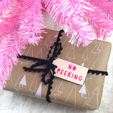 No Peeking Wooden Gift Tag