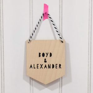 Custom Wooden Wall Hanging