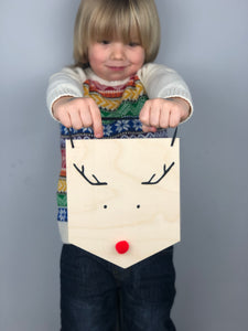 Rudolph The Res Nose Reindeer Wall Hanging