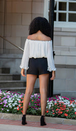 Pleated Chiffon Blouse