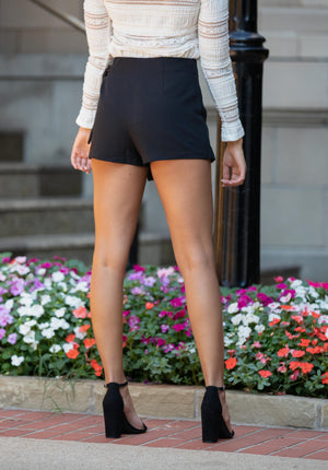 Asymmetrical Side Tie Skort