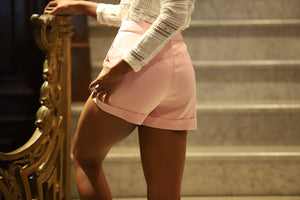 Tailored Pink Short