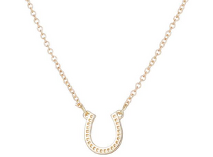 Lucky Silver Horseshoe Necklace
