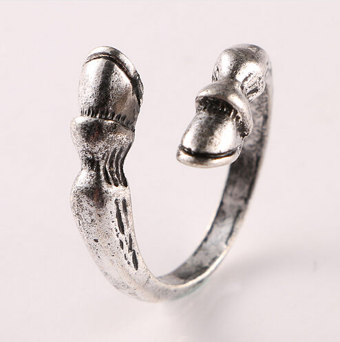 Vintage Hoof & Horseshoe Resizable Ring
