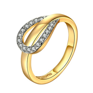 18KG Stamped Gold Horse Shoe Ring