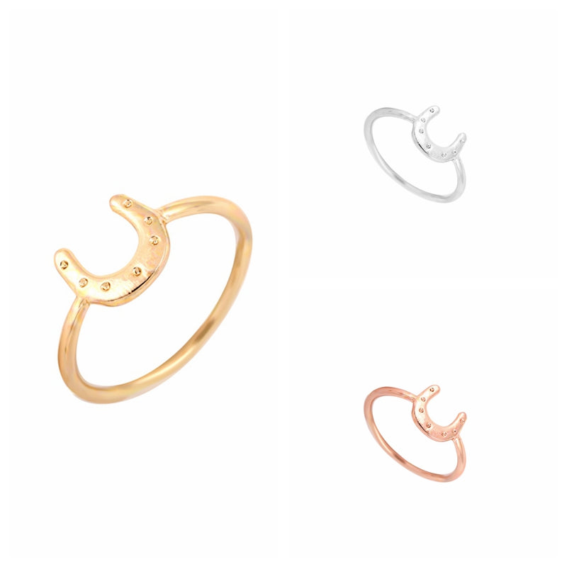 Gold/Silver/Rose Lucky Horse Shoe Ring