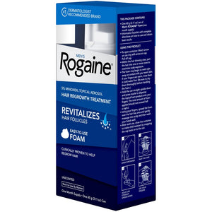 Men's Rogaine Hair Loss and Hair Regrowth Treatment 5% Minoxidil Foam 1-Month