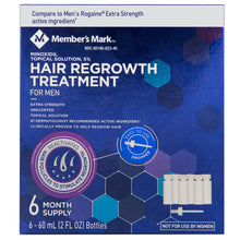 Member's Mark 5% Minoxidil Extra Strength Liquid Hair Loss and Hair Regrowth Treatment 6-Month