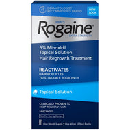 Men's Rogaine Hair Loss and Hair Regrowth Treatment 5% Minoxidil Topical Solution 1-Month