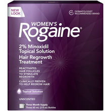 Women's Rogaine Hair Loss and Hair Regrowth Treatment 2% Minoxidil Topical Solution 3-Month