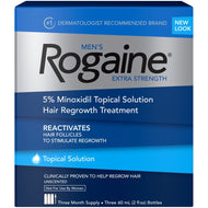 Men's Rogaine Hair Loss and Hair Regrowth Treatment 5% Minoxidil Topical Solution 3-Month