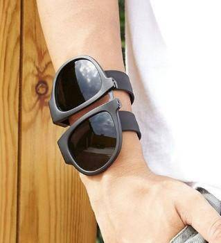 Image of Slap and Fold Polarized Sunglasses - Black Tech Accessories shopgadgetmonkey