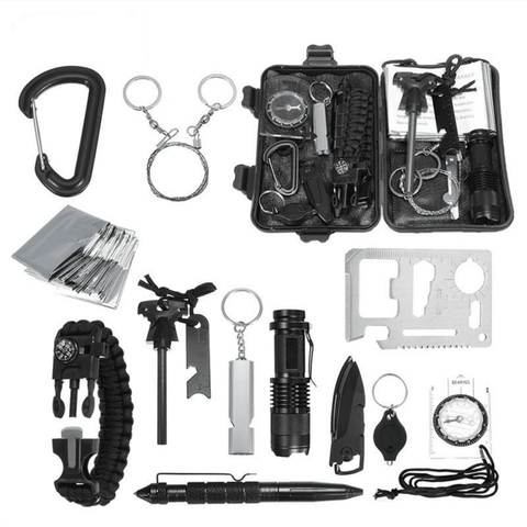 13 in 1 Outdoor Emergency Survival Kit Survival Gear Tech Accessories Gadget Monkey