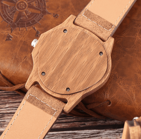 Image of Bamboo Wooden Watch Quartz Jewelry & Watches Gadget Monkey