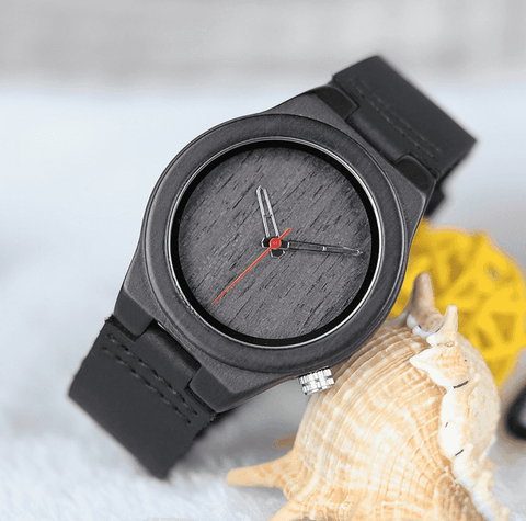 Classic Black Wooden Watch for Women comes in a Beautiful Wood Gift Box Jewelry & Watches Gadget Monkey