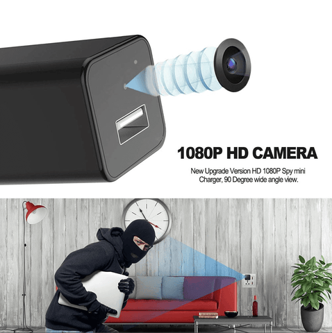 Image of HD 1080P Hidden Camera USB Wall Charger Home Security Adapter Tech Accessories shopgadgetmonkey