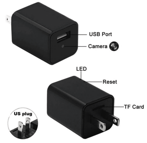 Image of HD 1080P Stealth Camera USB Wall Charger Tech Accessories shopgadgetmonkey