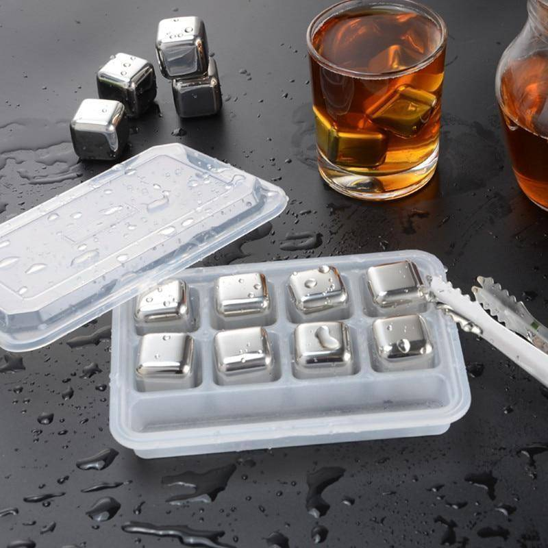 Stainless Steel Ice Cubes - Reusable Chilling Stones and Beer Coolers Home & Garden Gadget Monkey