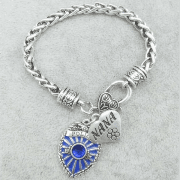 Police Badge Charm Bracelet - First Responder Jewelry & Watches Gadget Monkey Sister