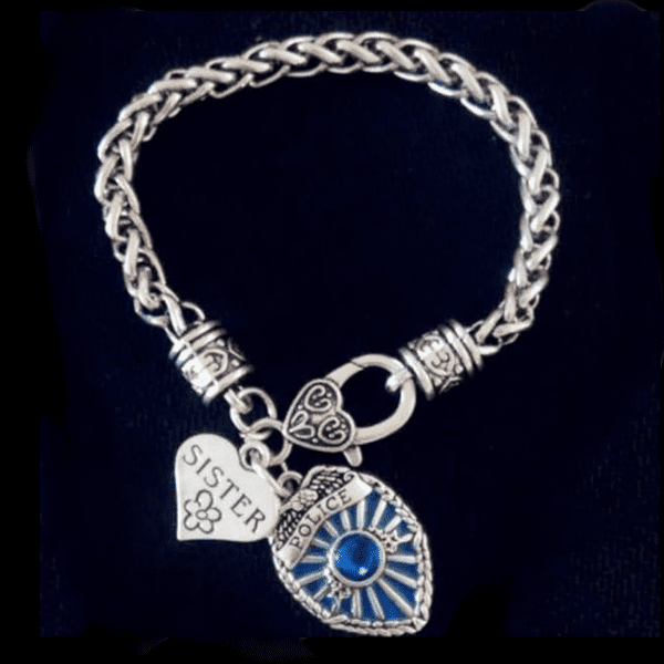 Police Badge Charm Bracelet - First Responder Jewelry & Watches Gadget Monkey