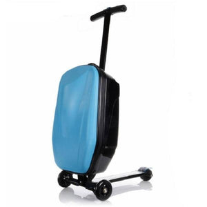 Scooter Suitcase - Carry On Luggage with Built-In Scooter Gadget Monkey