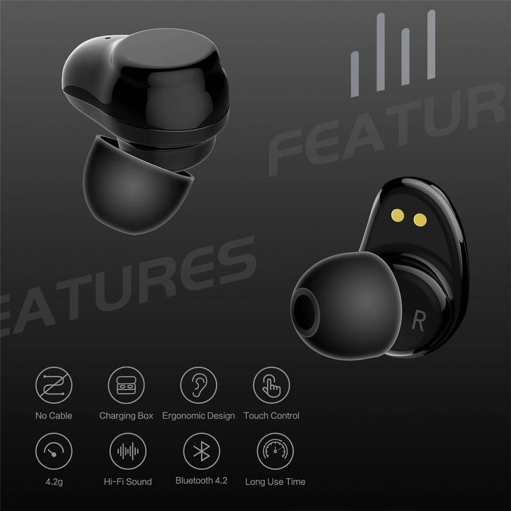 TWS True Wireless Bluetooth Earbuds Touch Control and Charging Case Tech Accessories shopgadgetmonkey