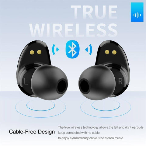 Image of TWS True Wireless Bluetooth Earbuds Touch Control and Charging Case Tech Accessories shopgadgetmonkey