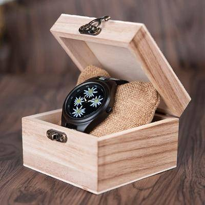 Image of Bamboo Wooden Watch for Women With Embroidered Face Jewelry & Watches Gadget Monkey Daisy