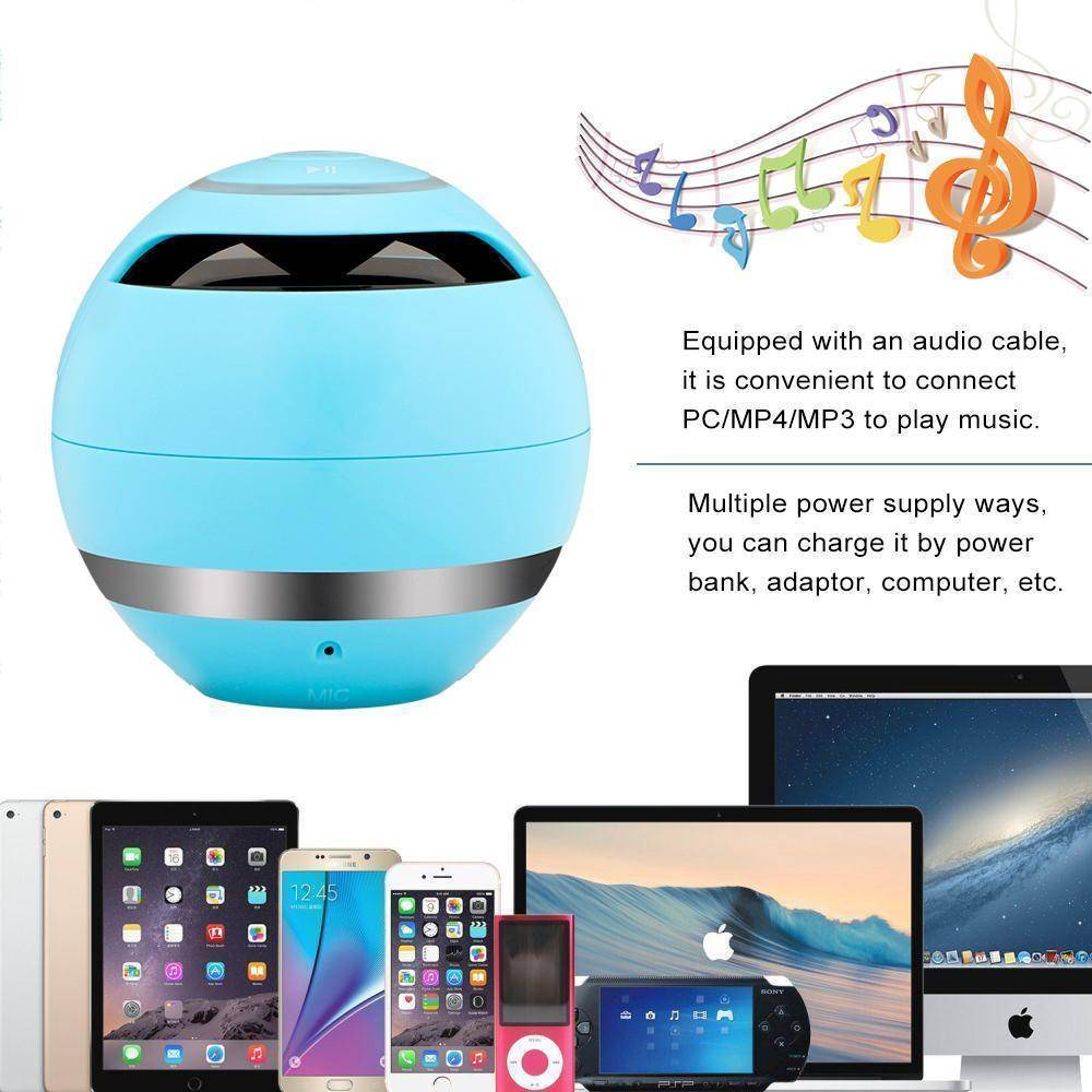 Portable Wireless Bluetooth Speaker Ball Tech Accessories shopgadgetmonkey