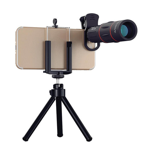 Image of 18X Zoom Telescope Mobile Lens with Tripod Clip For iPhone and Samsung Android - 1000m 3280ft Tech Accessories Gadget Monkey Default Title
