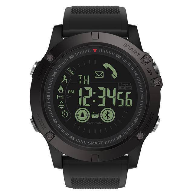Rugged Waterproof Smartwatch and Fitness Tracker For IOS And Android Tech Accessories shopgadgetmonkey Black
