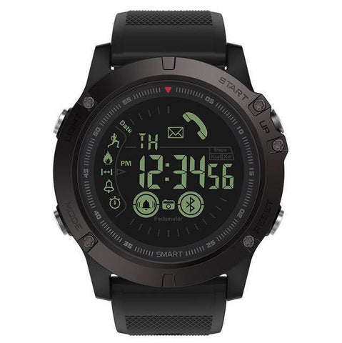 Image of Rugged Waterproof Smartwatch and Fitness Tracker For IOS And Android Tech Accessories shopgadgetmonkey Black