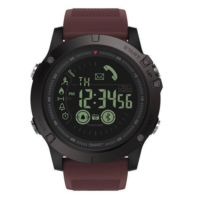 Rugged Waterproof Smartwatch and Fitness Tracker For IOS And Android Tech Accessories shopgadgetmonkey Burgundy