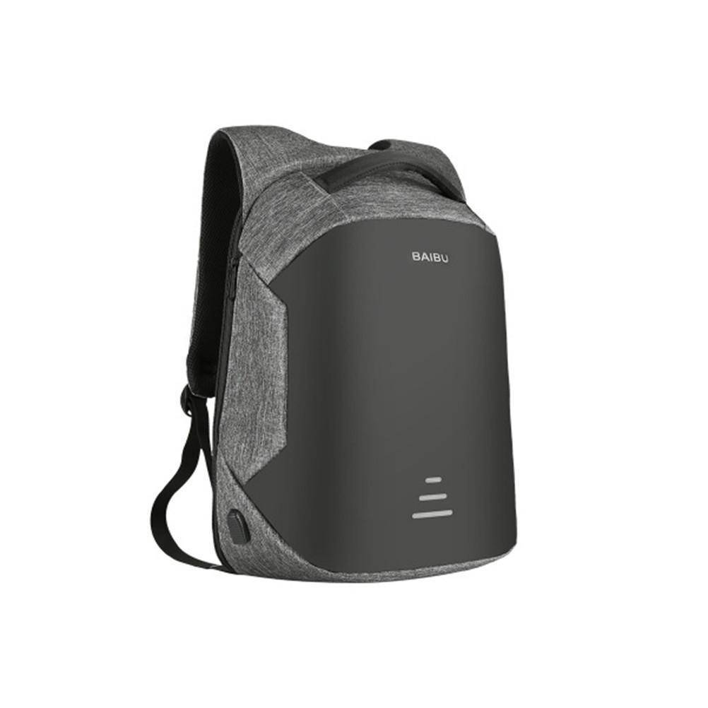 Waterproof Charging Backpack Business Satchel Bag with USB Charging Port Tech Accessories shopgadgetmonkey Grey