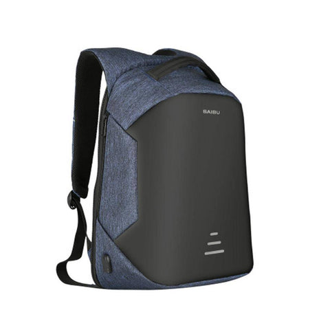 Image of Waterproof Charging Backpack Business Satchel Bag with USB Charging Port Tech Accessories shopgadgetmonkey Blue