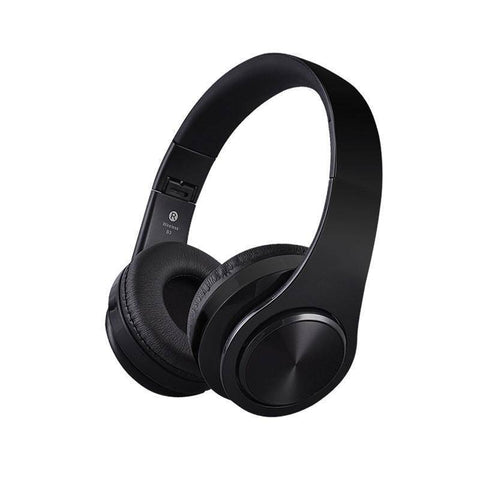 Image of Wireless Bluetooth Stereo Headphones with up to 32GB of built in music storage Tech Accessories shopgadgetmonkey Black