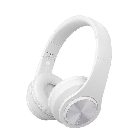 Image of Wireless Bluetooth Stereo Headphones with up to 32GB of built in music storage Tech Accessories shopgadgetmonkey White