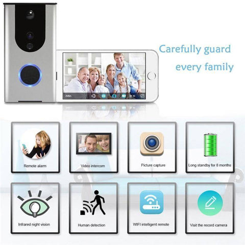 Image of WiFi Wireless Doorbell Camera Remote Video Door Intercom IR Night Vision Security Bell Home & Garden Gadget Monkey