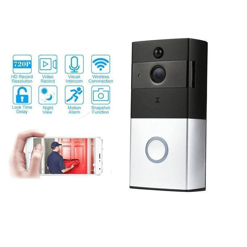 WiFi Wireless Doorbell Camera Remote Video Door Intercom IR Night Vision Security Bell Home & Garden Gadget Monkey