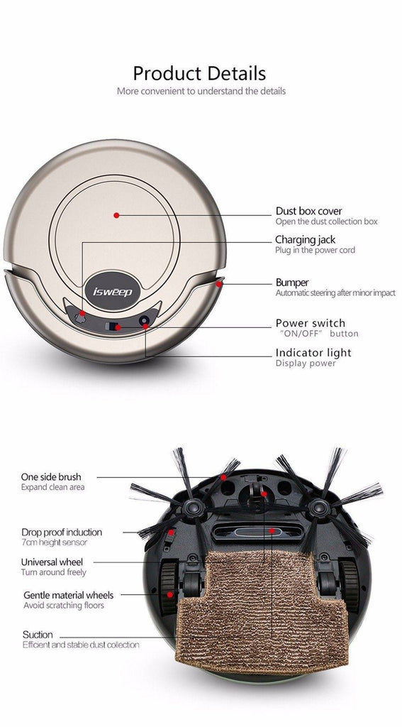 ISWEEP S320 Smart Robot Vacuum Cleaner - Wet and Dry Home & Garden shopgadgetmonkey