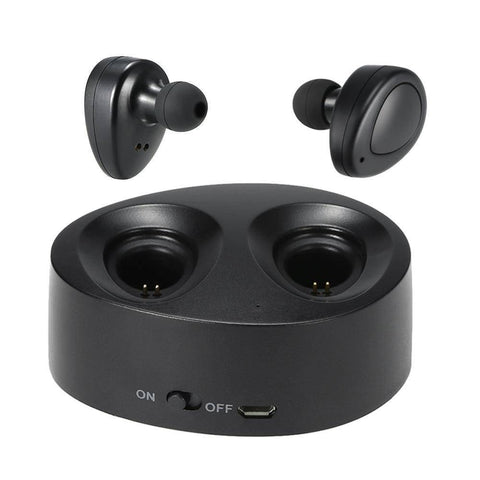 Image of Wireless Bluetooth 4.1 In-ear Noise Cancelling Headphones with Charging Case Tech Accessories shopgadgetmonkey