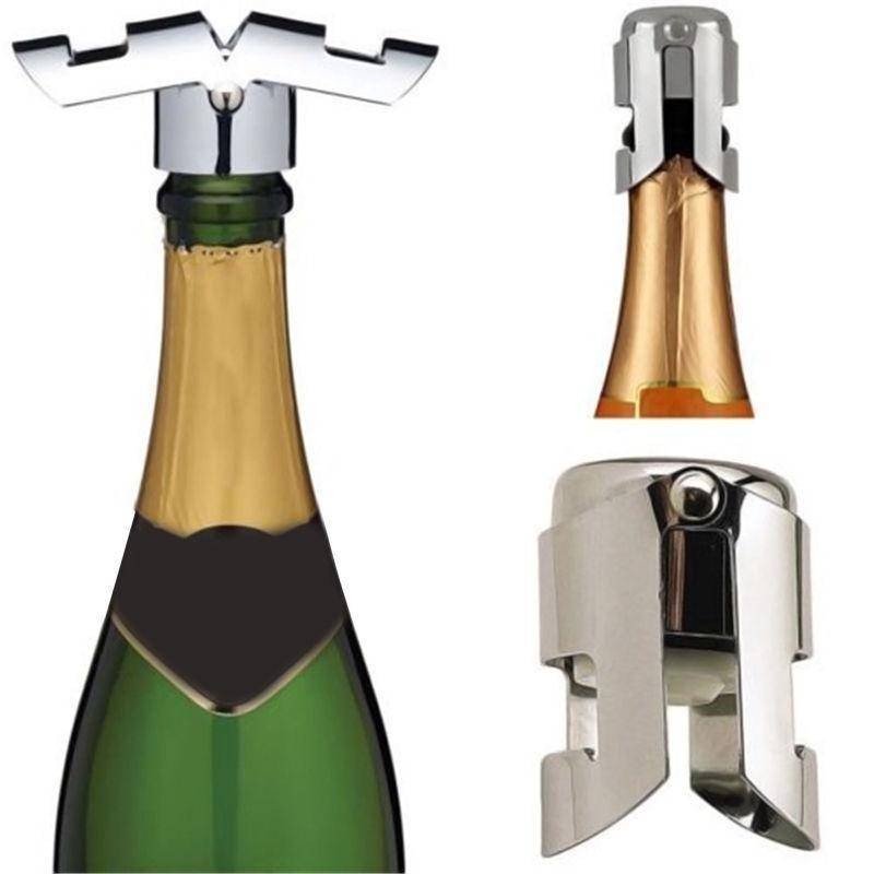 Stainless Steel Sparkling Wine Bottle Stopper Kitchen Gadgets shopgadgetmonkey